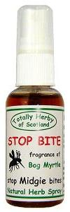 Natural midge repellent  made with bog myrtle -  it's traditionally Scottish